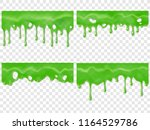 realistic dripping slime.... | Shutterstock .eps vector #1164529786