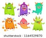 cartoon monster ghost. angry...   Shutterstock .eps vector #1164529870