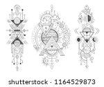 solar system planet sketch.... | Shutterstock .eps vector #1164529873