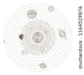 solar system planets orbits.... | Shutterstock .eps vector #1164529876