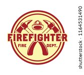 firefighter logo  emblems and...   Shutterstock .eps vector #1164531490