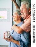 beautiful aged caucasian couple ... | Shutterstock . vector #1164537940