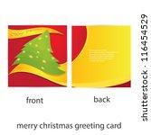 vector merry christmas greeting ... | Shutterstock .eps vector #116454529