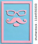 hipster cut from paper in a... | Shutterstock . vector #1164550333