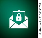 secure mail icon isolated on... | Shutterstock .eps vector #1164556210