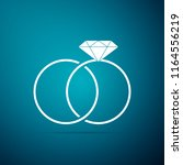 wedding rings icon isolated on... | Shutterstock .eps vector #1164556219