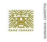 art deco lion head logo | Shutterstock .eps vector #1164557710