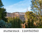 famous landmark hollywood sign... | Shutterstock . vector #1164563563
