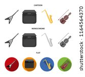 electric guitar  loudspeaker ... | Shutterstock .eps vector #1164564370