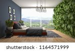 bedroom interior. 3d... | Shutterstock . vector #1164571999
