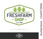 fresh farm shop logo set color... | Shutterstock .eps vector #1164572836