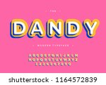 vector dandy font 3d bold... | Shutterstock .eps vector #1164572839