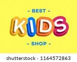 vector kids logo modern... | Shutterstock .eps vector #1164572863