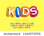 Vector Kids Typeface 3d Bold...