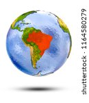 brazil on globe with shadow... | Shutterstock . vector #1164580279