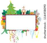 cute christmas frame | Shutterstock .eps vector #116458090