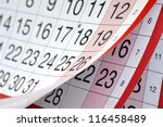 Months And Dates Shown On A...
