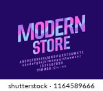 vector colorful modern store... | Shutterstock .eps vector #1164589666