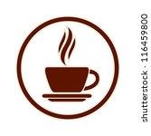 coffee cup icon  vector. | Shutterstock .eps vector #116459800