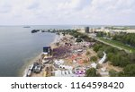 aerial view on a music festival ... | Shutterstock . vector #1164598420