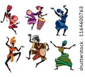 dancing people in traditional... | Shutterstock .eps vector #1164600763