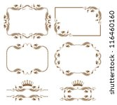 vector set of decorative... | Shutterstock .eps vector #116460160
