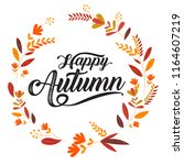 happy thanksgiving typography... | Shutterstock .eps vector #1164607219