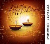 beautiful vector diwali de ya... | Shutterstock .eps vector #116461666