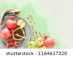 watercolor style and abstract... | Shutterstock . vector #1164617320