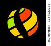 abstract globe stripes sphere ... | Shutterstock .eps vector #1164623296