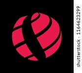 abstract globe stripes sphere ... | Shutterstock .eps vector #1164623299