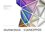 vector 3d geometric  polygon ... | Shutterstock .eps vector #1164629920