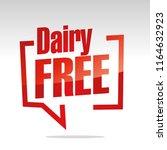 dairy free in brackets speech... | Shutterstock .eps vector #1164632923