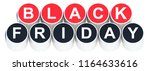 black friday text on red and... | Shutterstock . vector #1164633616