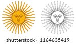 sun of may   national emblem of ... | Shutterstock .eps vector #1164635419