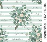flower bouquet seamless pattern.... | Shutterstock .eps vector #1164643306