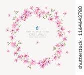 vector vintage floral round... | Shutterstock .eps vector #1164643780