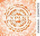 expert abstract orange mosaic... | Shutterstock .eps vector #1164647953