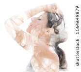 an illusory and dreamy feeling...   Shutterstock . vector #1164649879
