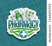 vector logo for pharmacy  cut... | Shutterstock .eps vector #1164651553