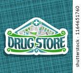 vector logo for drug store  cut ...   Shutterstock .eps vector #1164651760