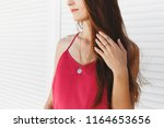 details of trendy casual summer ... | Shutterstock . vector #1164653656
