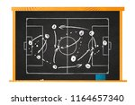 white chalk game plan on... | Shutterstock .eps vector #1164657340