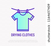 drying clothers  t shirt on... | Shutterstock .eps vector #1164657409