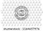 trapeze realistic grey emblem... | Shutterstock .eps vector #1164657976