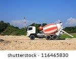 Heavy Concrete Truck On...