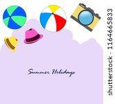 summer holiday hat ball camera | Shutterstock .eps vector #1164665833