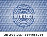 eternal blue hexagon badge. | Shutterstock .eps vector #1164669016