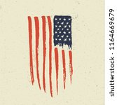 hand drawn american flag.... | Shutterstock .eps vector #1164669679