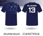 sports jersey template for team ... | Shutterstock .eps vector #1164674416